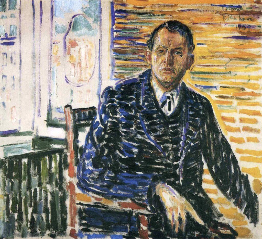 Autoportrait à l'hôpital du professeur Jacobson par Edvard Munch