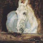 Cheval blanc (Gazelle) d'Henri Toulouse-Lautrec