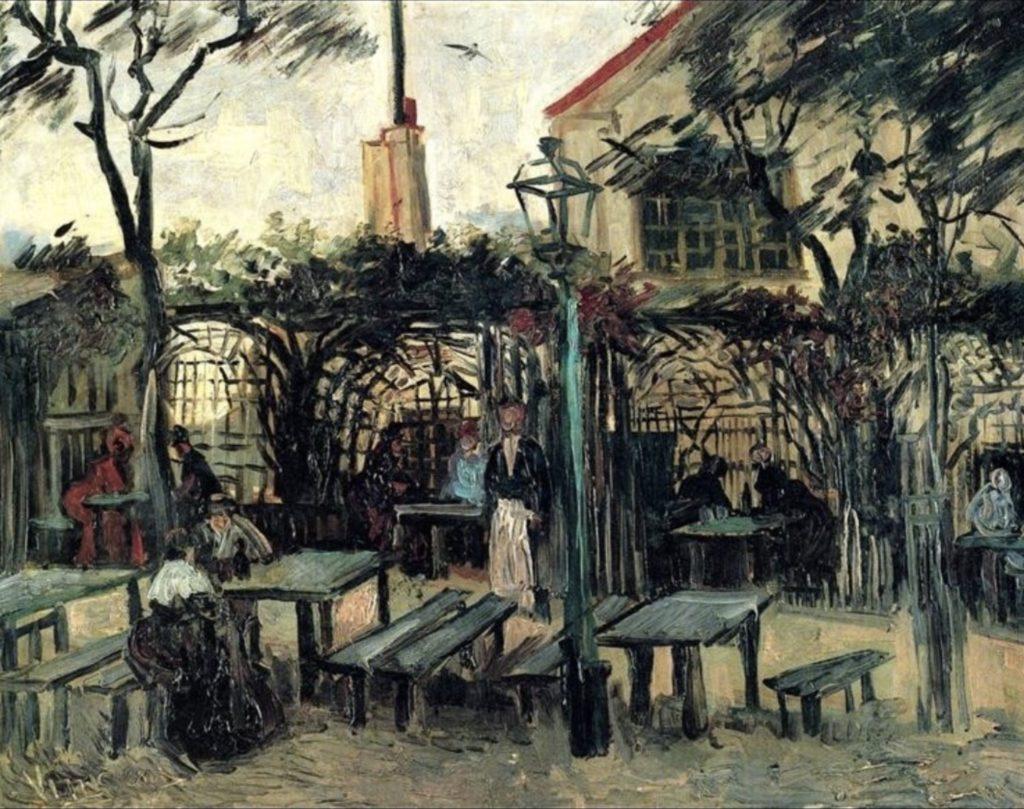 Terrasse de café à Montmartre par Vincent Van Gogh
