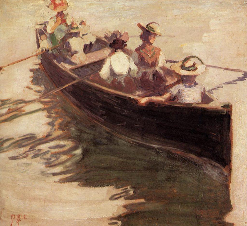 En barque par Egon Schiele