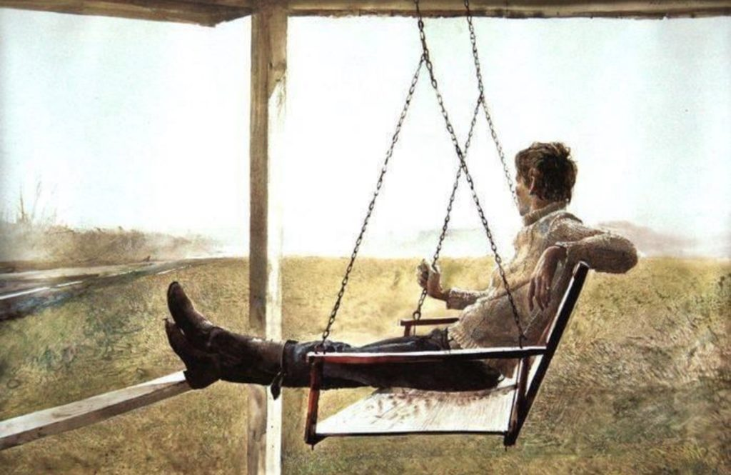 The swinger By Andrew Wyeth