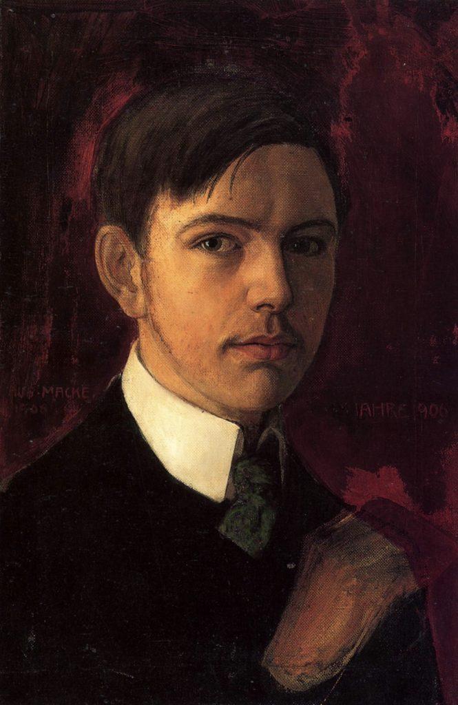 Autoportrait d'August Macke