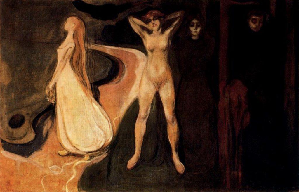 Les trois étapes de la femme (Sphinx) d'Edvard Munch