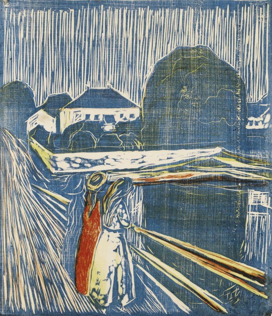 Les filles sur le pont d'Edvard Munch