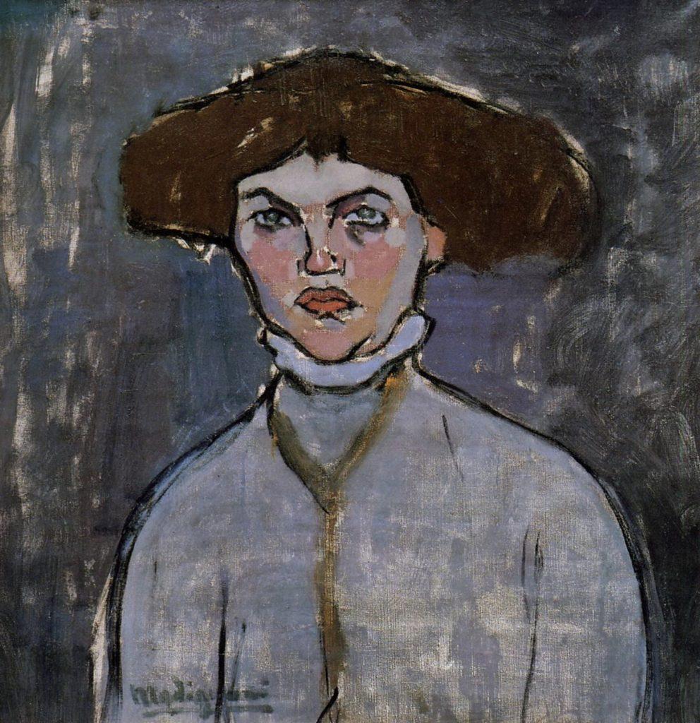 Tête de jeune femme d'Amedeo Modigliani