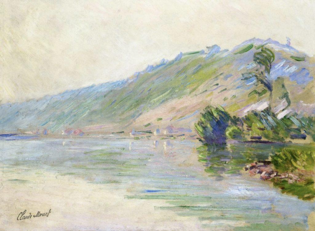 La Seine à Port-Villes, temps clair de Claude Monet