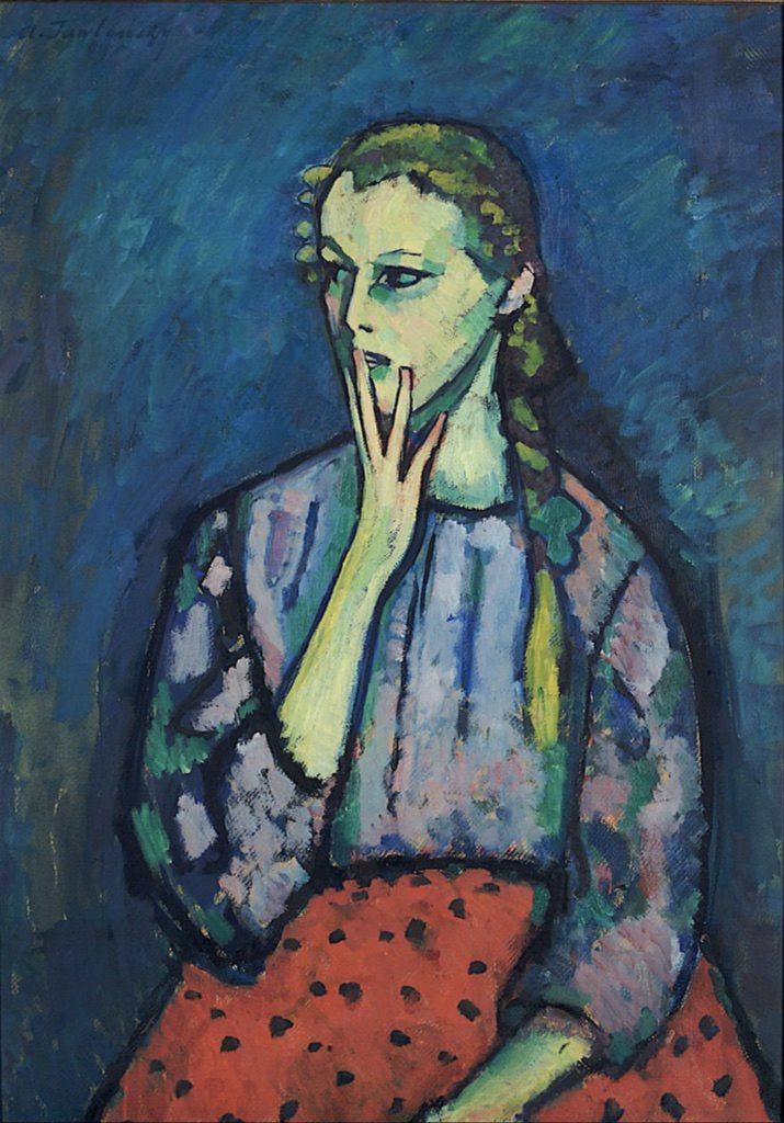 Portrait d'une fille par Alexej von Jawlensky