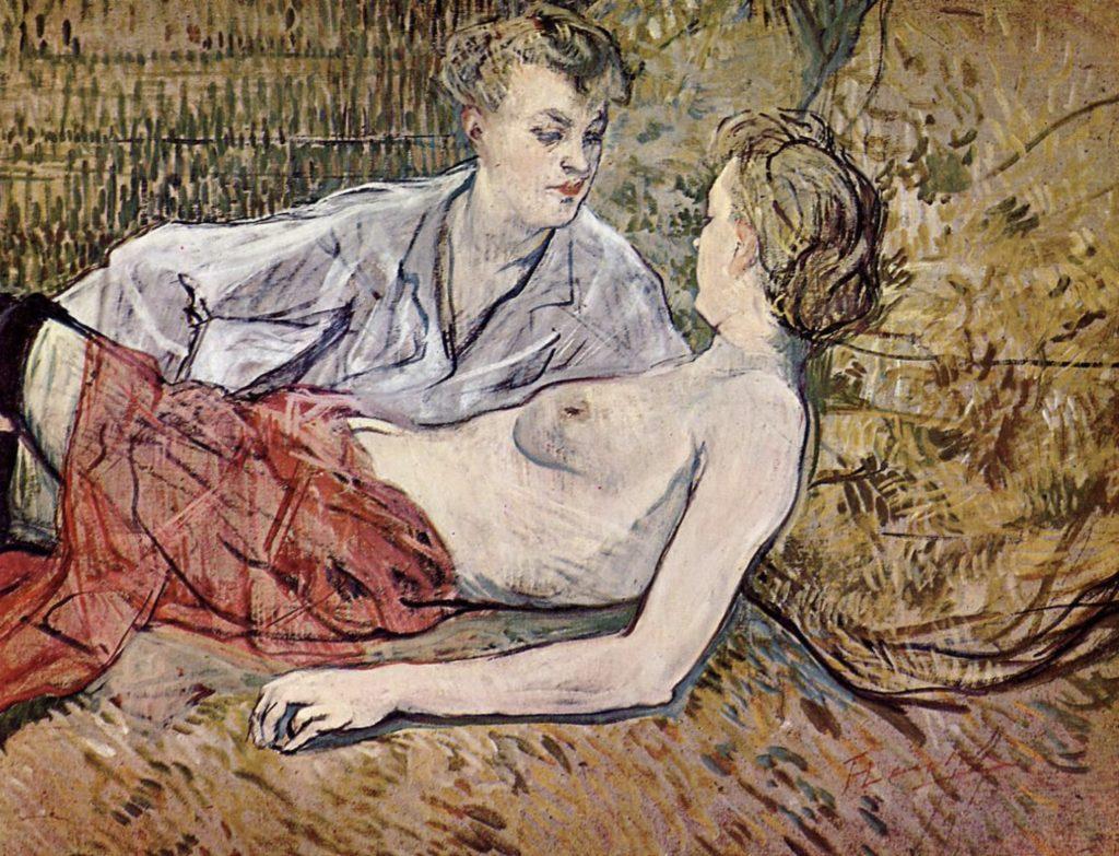 Deux amies de Toulouse-Lautrec