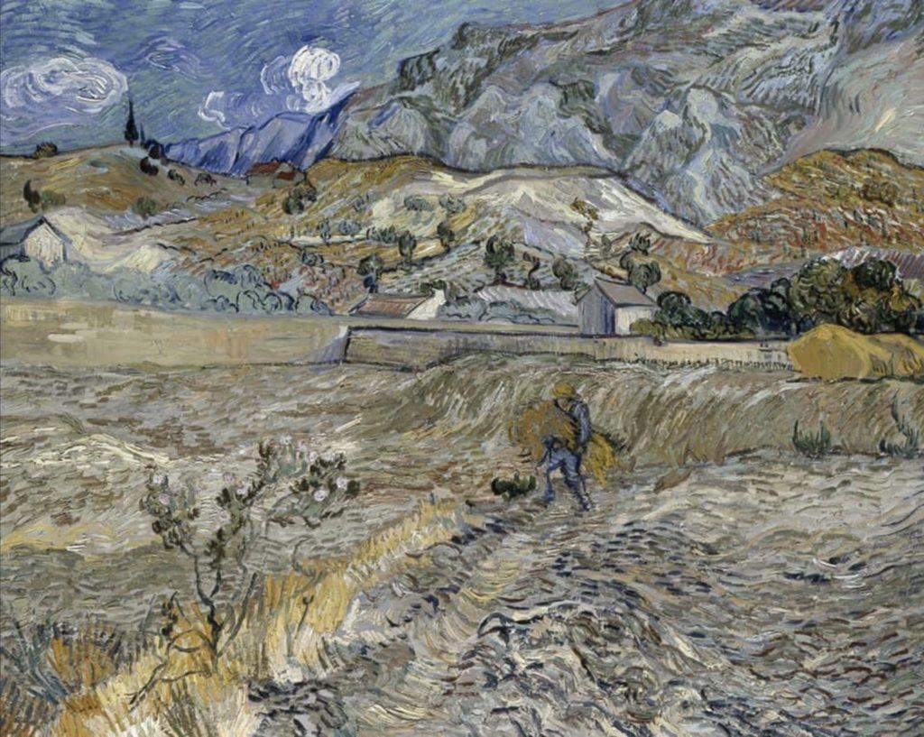 Paysage à  Saint-Rémy, début octobre Par Vincent Van Gogh