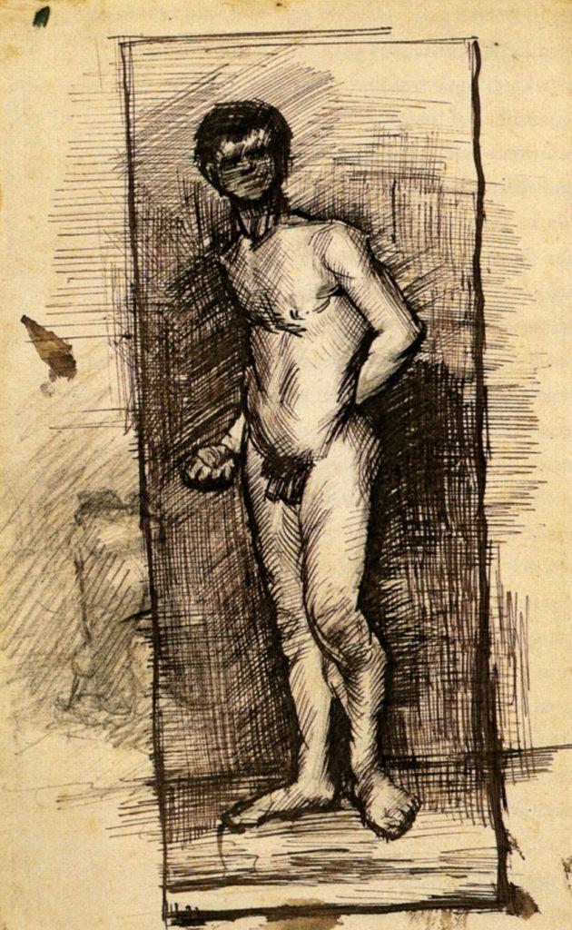 Nu masculin debout de Vincent Van Gogh