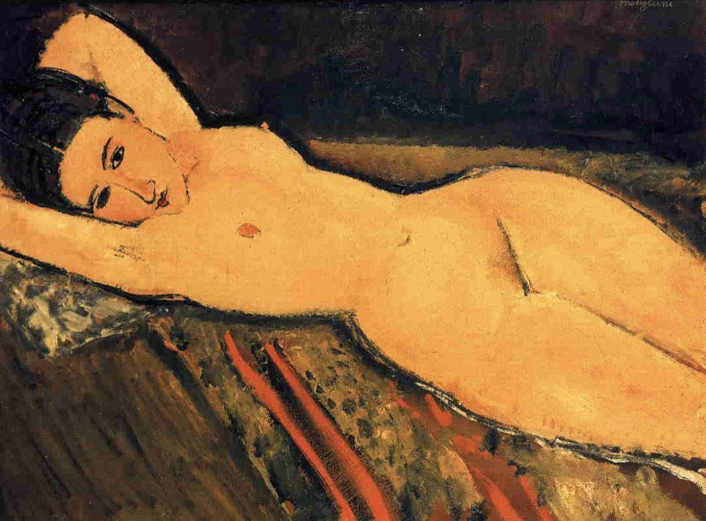 Nu allongé avec les bras repliés sous sa tête de Modigliani