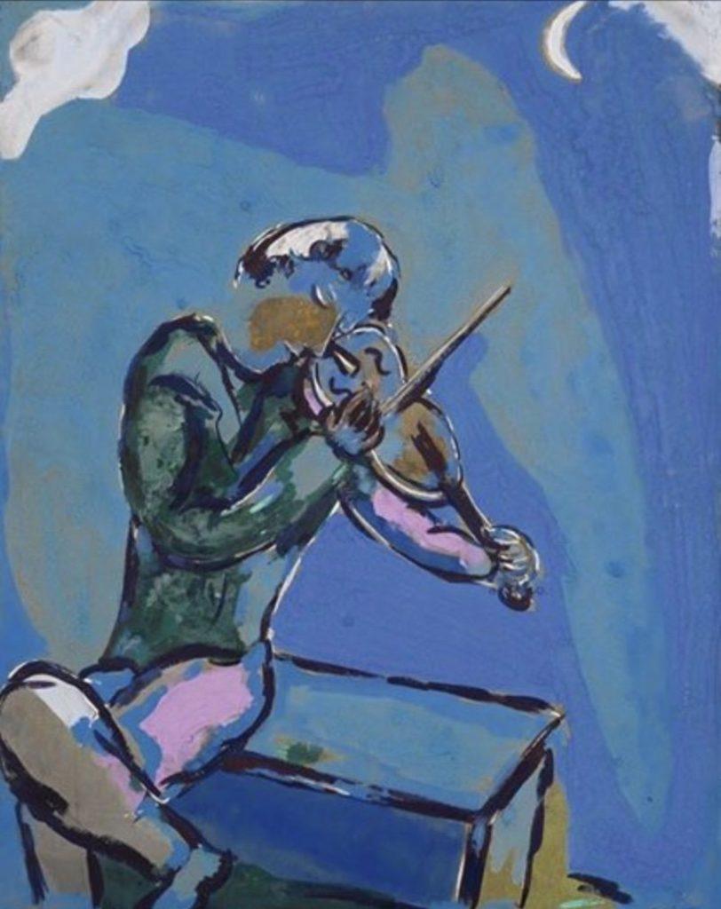 Le violoniste bleu de Marc Chagall