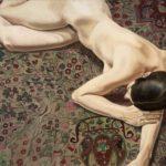Nu féminin sur tapis persan de Philip Pearlstein