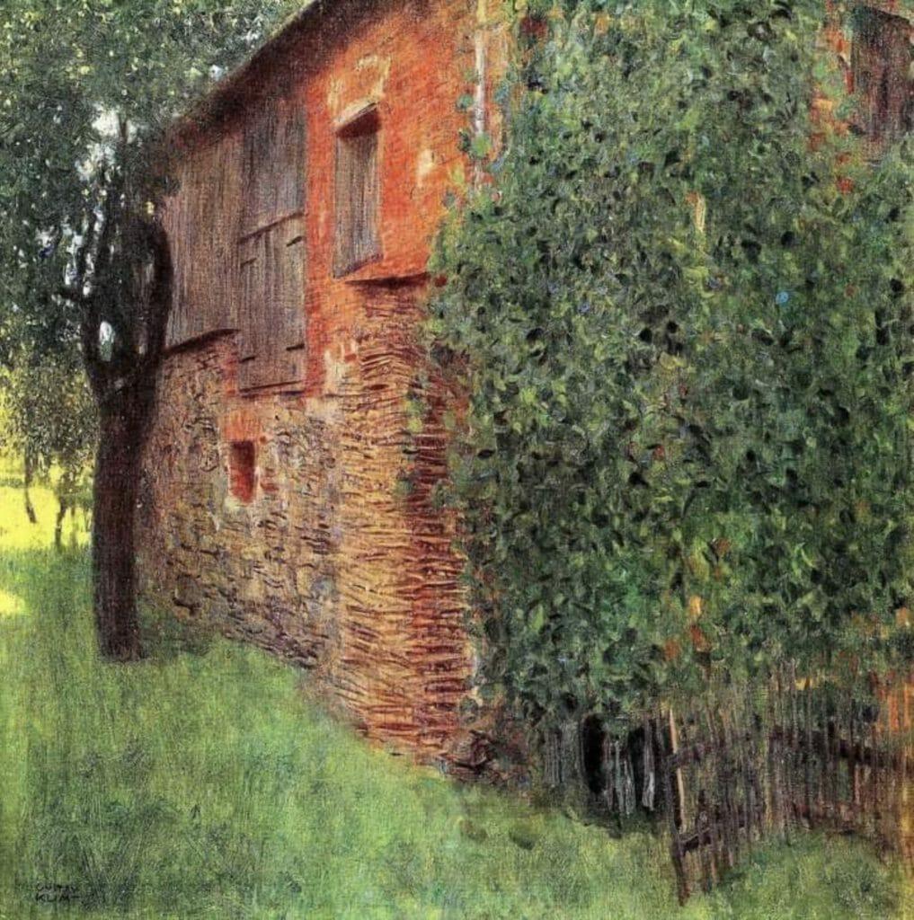 La maison du garde forestier sur le lac Attersee, par Gustav Klimt
