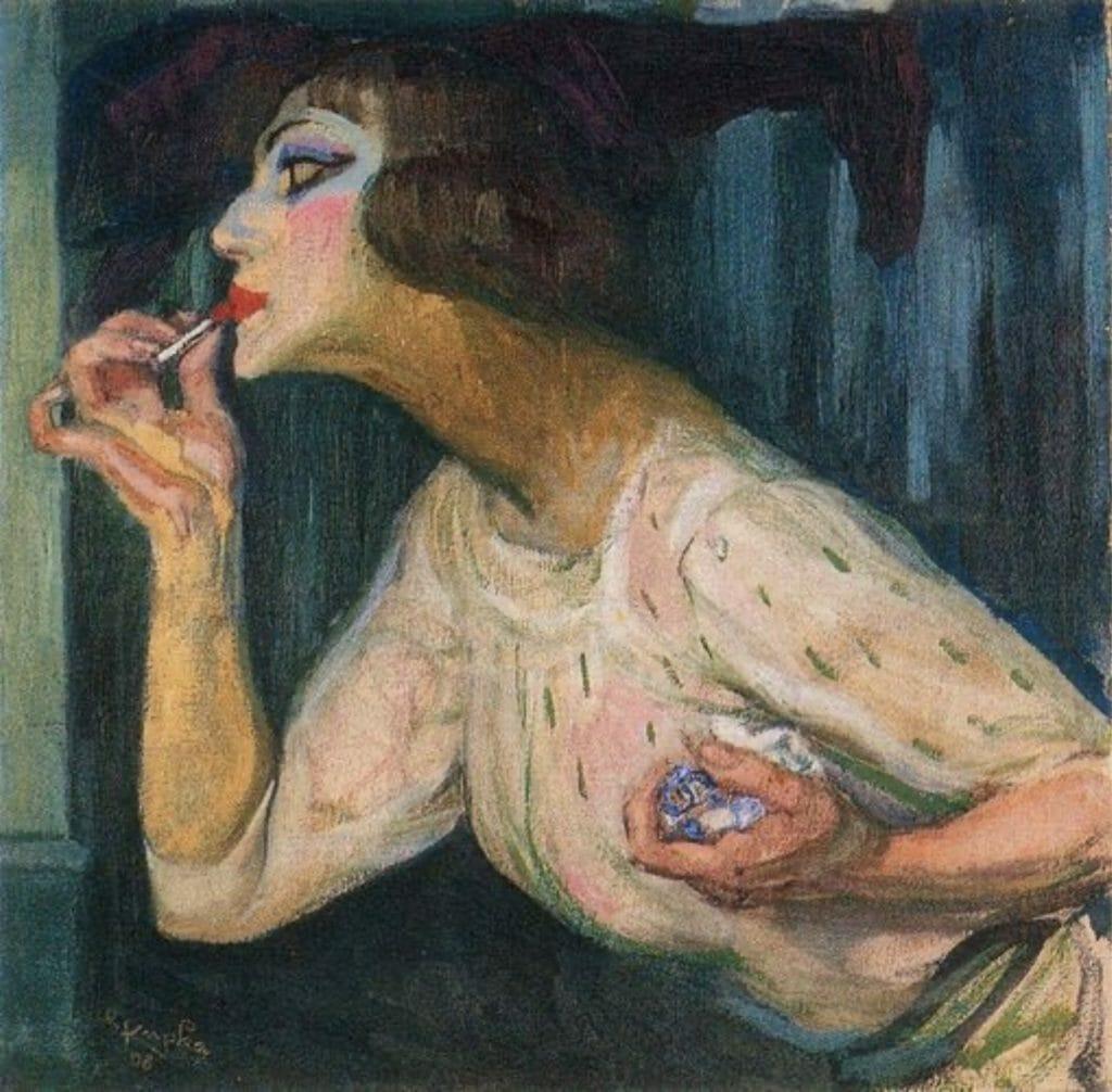 Le rouge à lèvres de Frantisek Kupka
