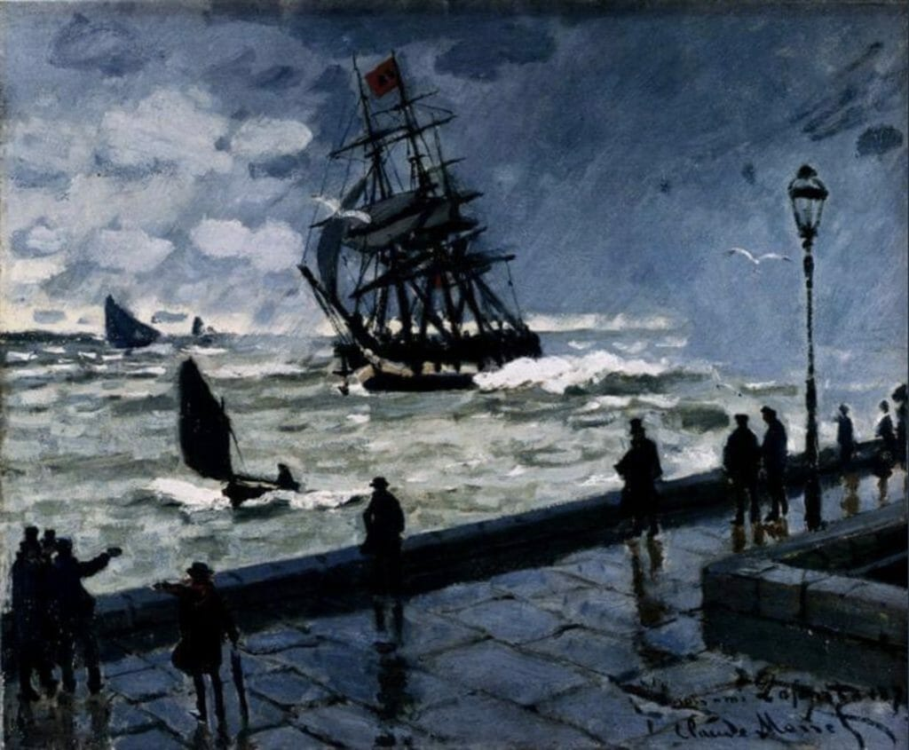 La jetée du Havre par mauvais temps de Claude Monet