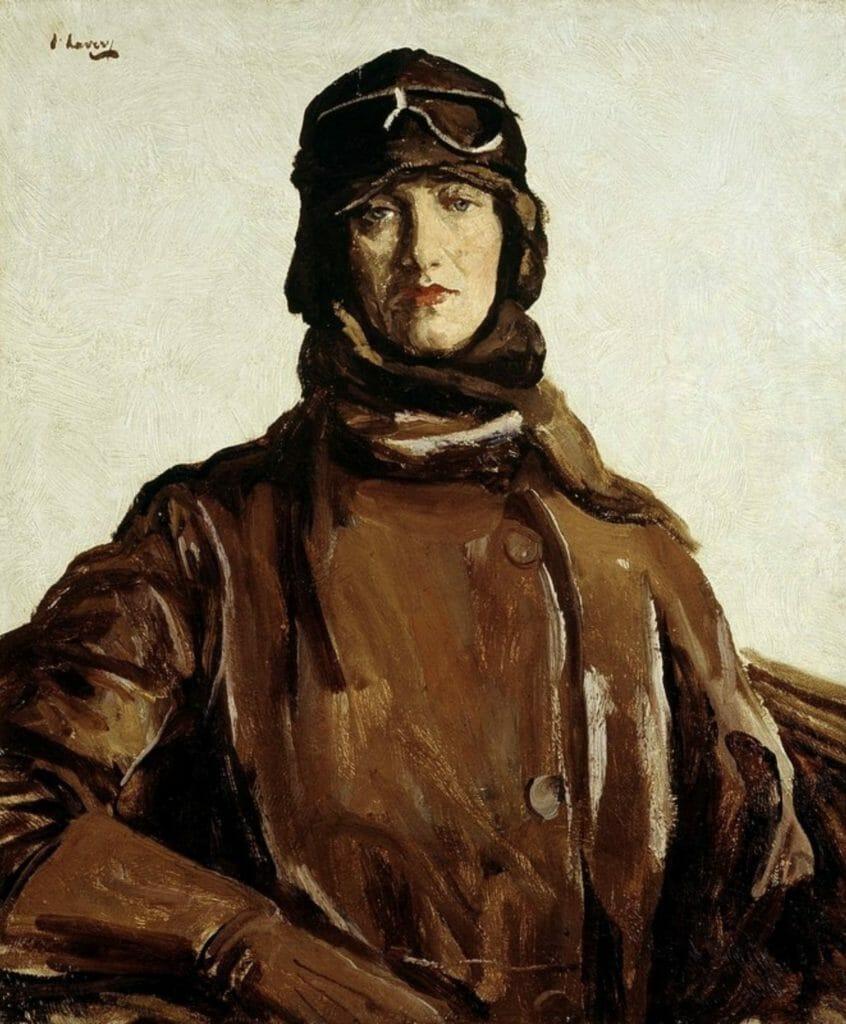 An Irish Pilot (Lady Heath) by Sir John Lavery