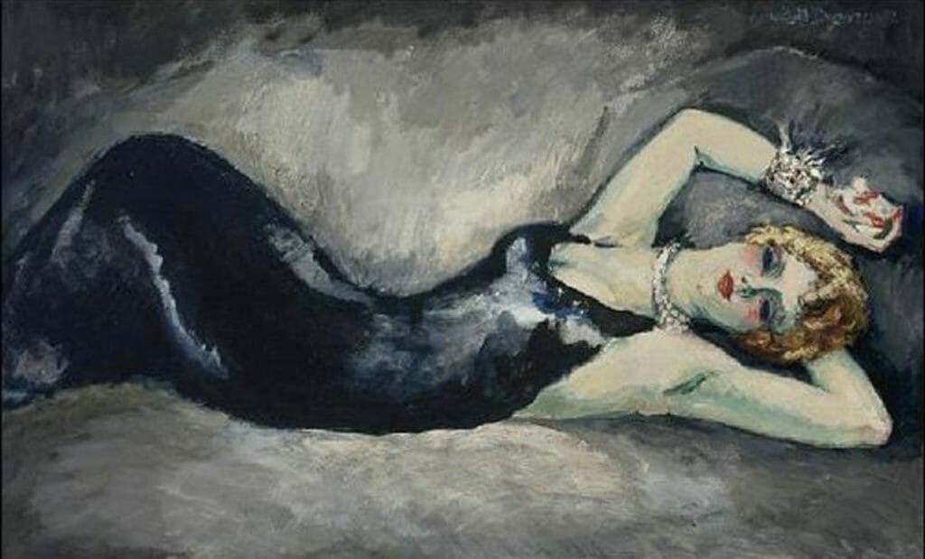 Caille sur canapé de Kees Van Dongen