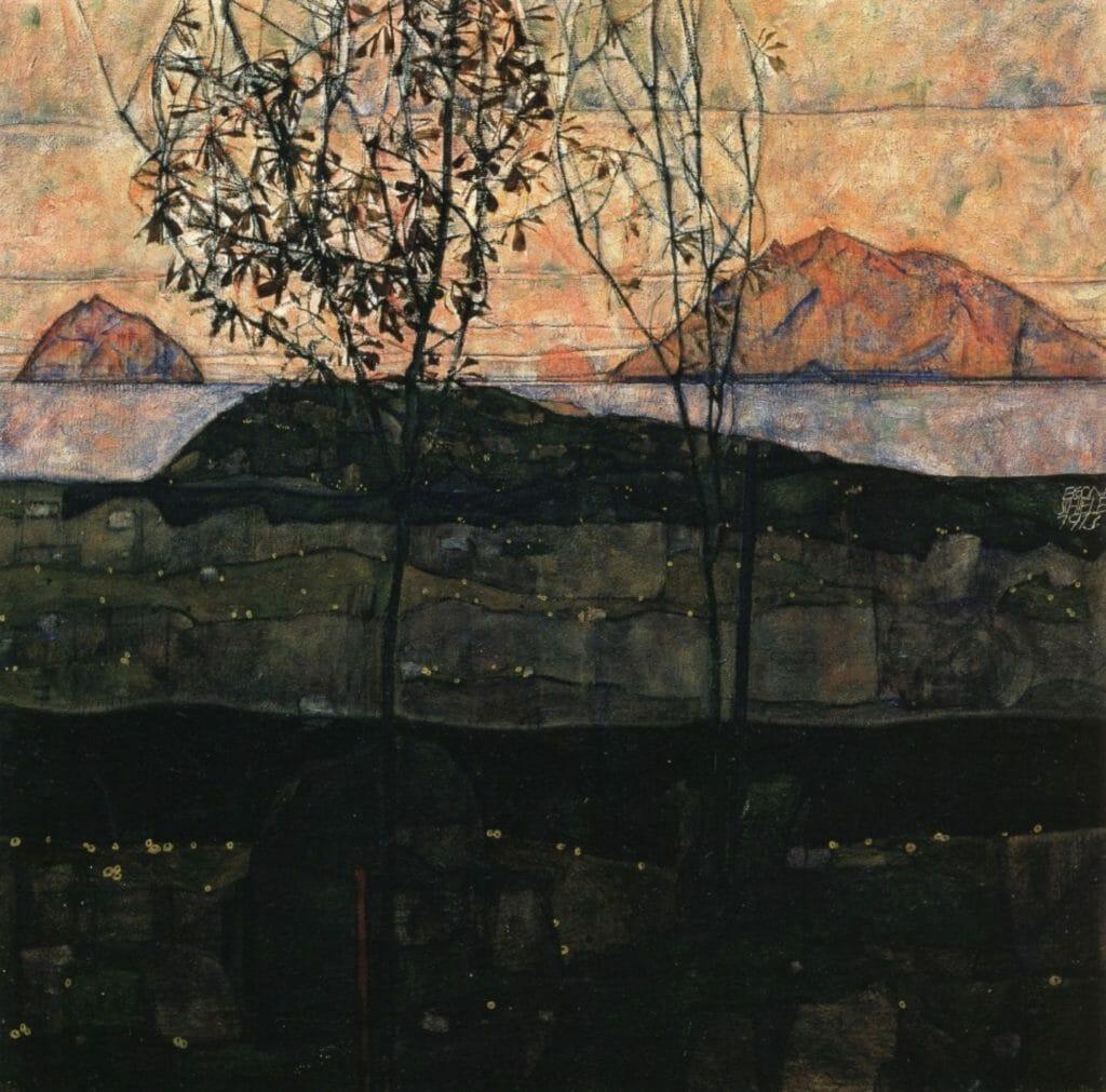 Coucher de soleil par Egon Schiele