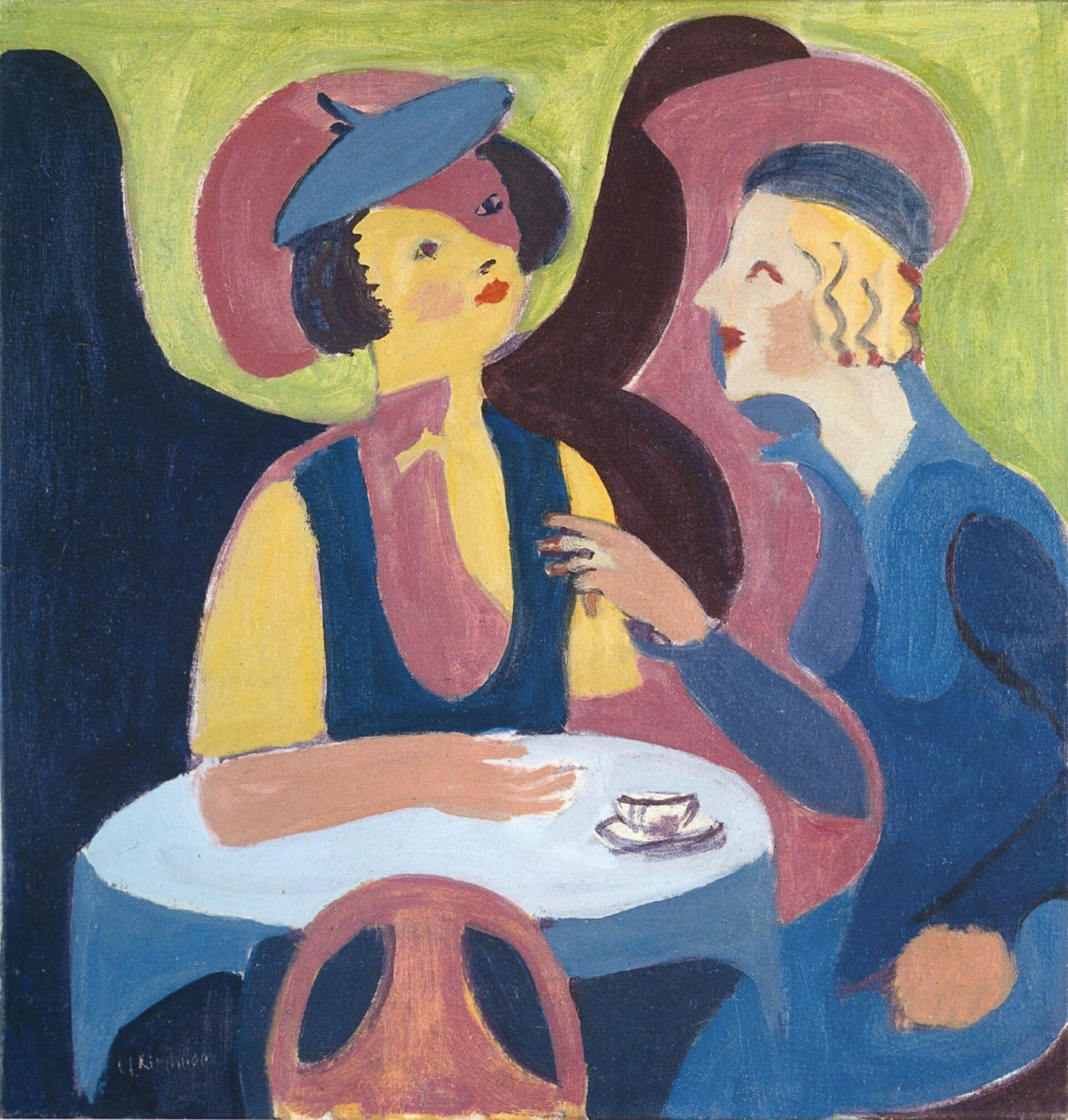 Deux femmes dans un café d'Ernst Ludwig Kirchner