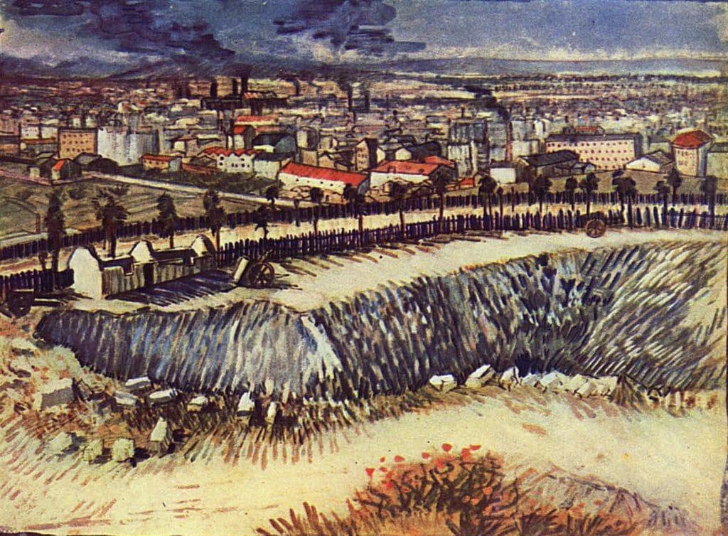 Périphérie de Paris près de Montmartre par Vincent Van Gogh