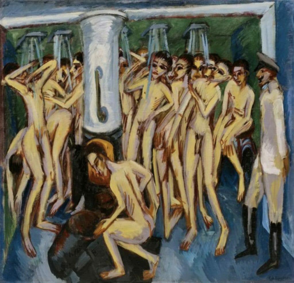 Artilleurs par Ernst Ludwig Kirchner