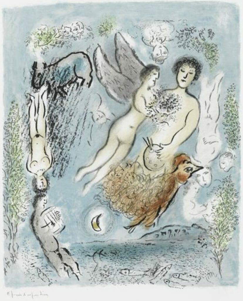 L'île de Poros par Marc Chagall
