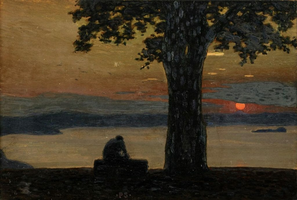 Moonlight night par Adolf Swedlund
