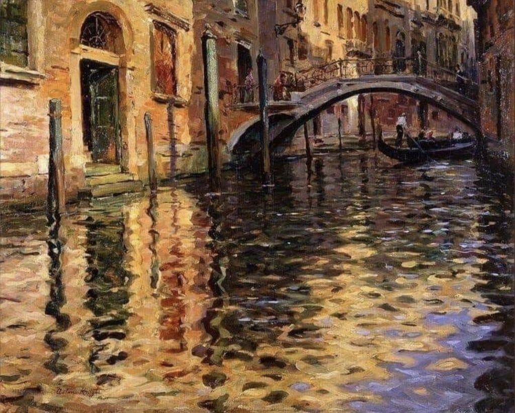 Le pont de l'Ange, Venise de Louis Aston Knight
