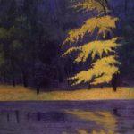 Le lac du bois de Boulogne par Félix Vallotton