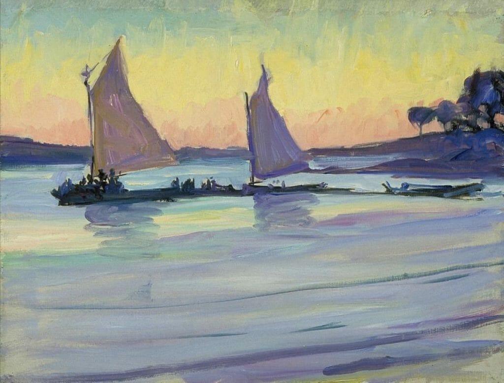 Jane Peterson - Bateaux sur le Nil