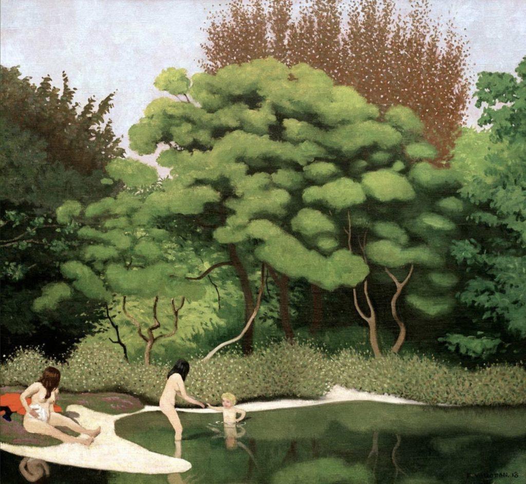 Paysage en sous-bois de Félix Vallotton
