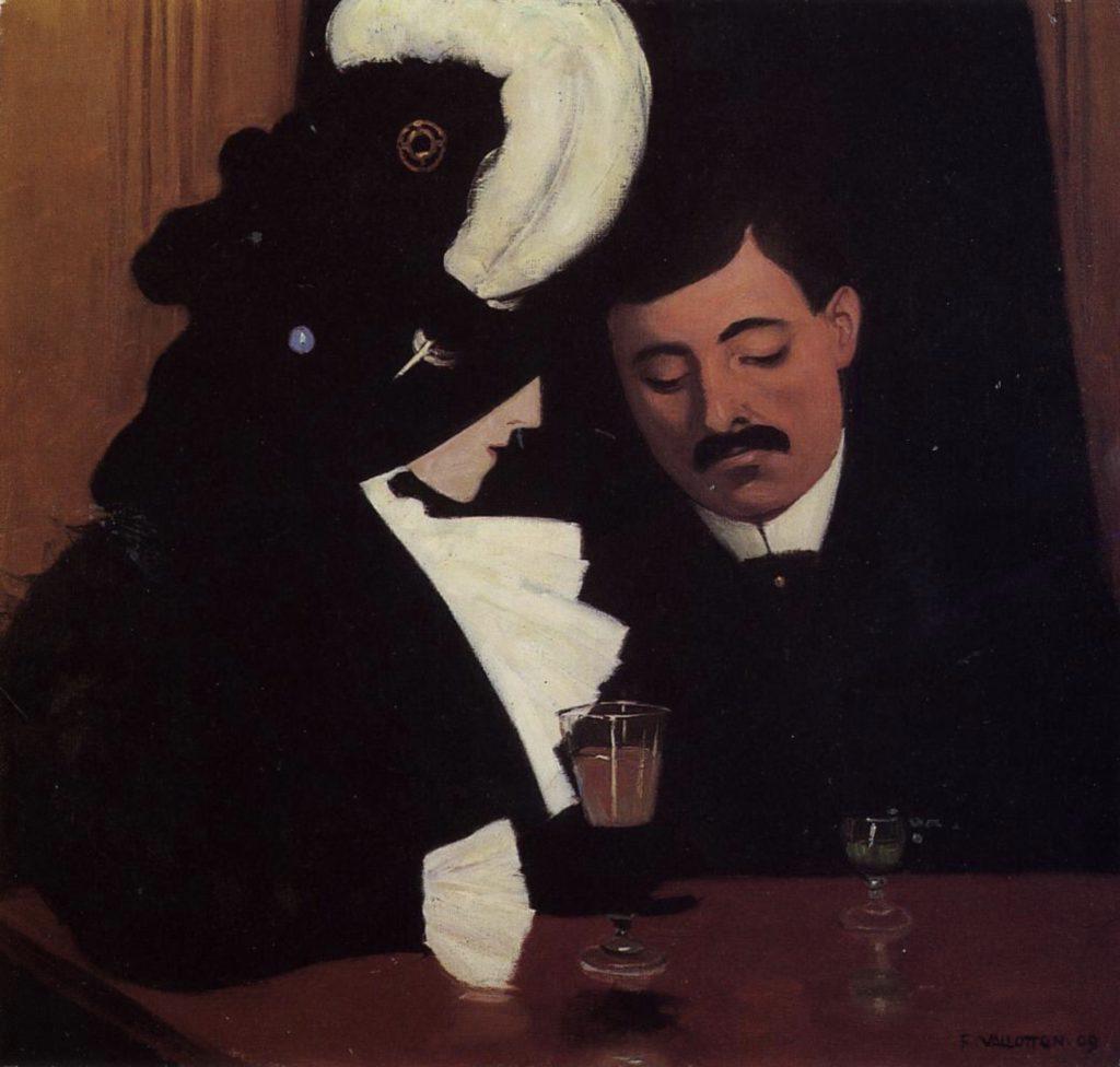 Au café par Félix Vallotton