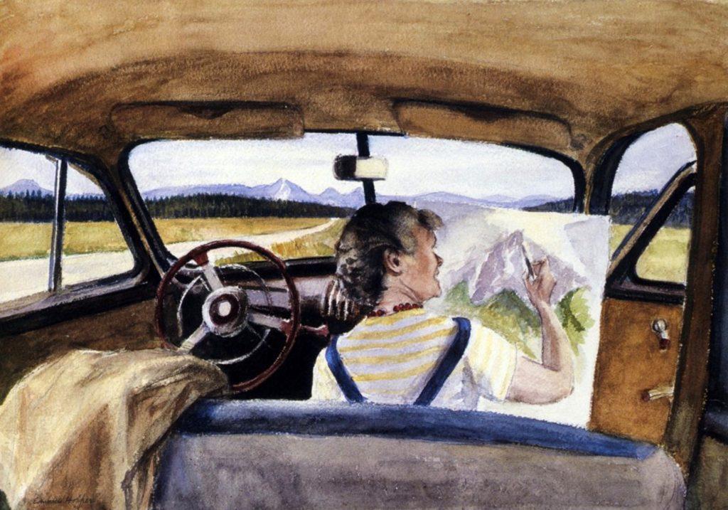 Jo in Wyoming by Edward Hopper