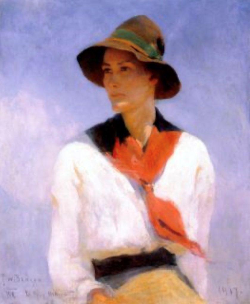 Portrait de Nathalie par Frank W. Benson