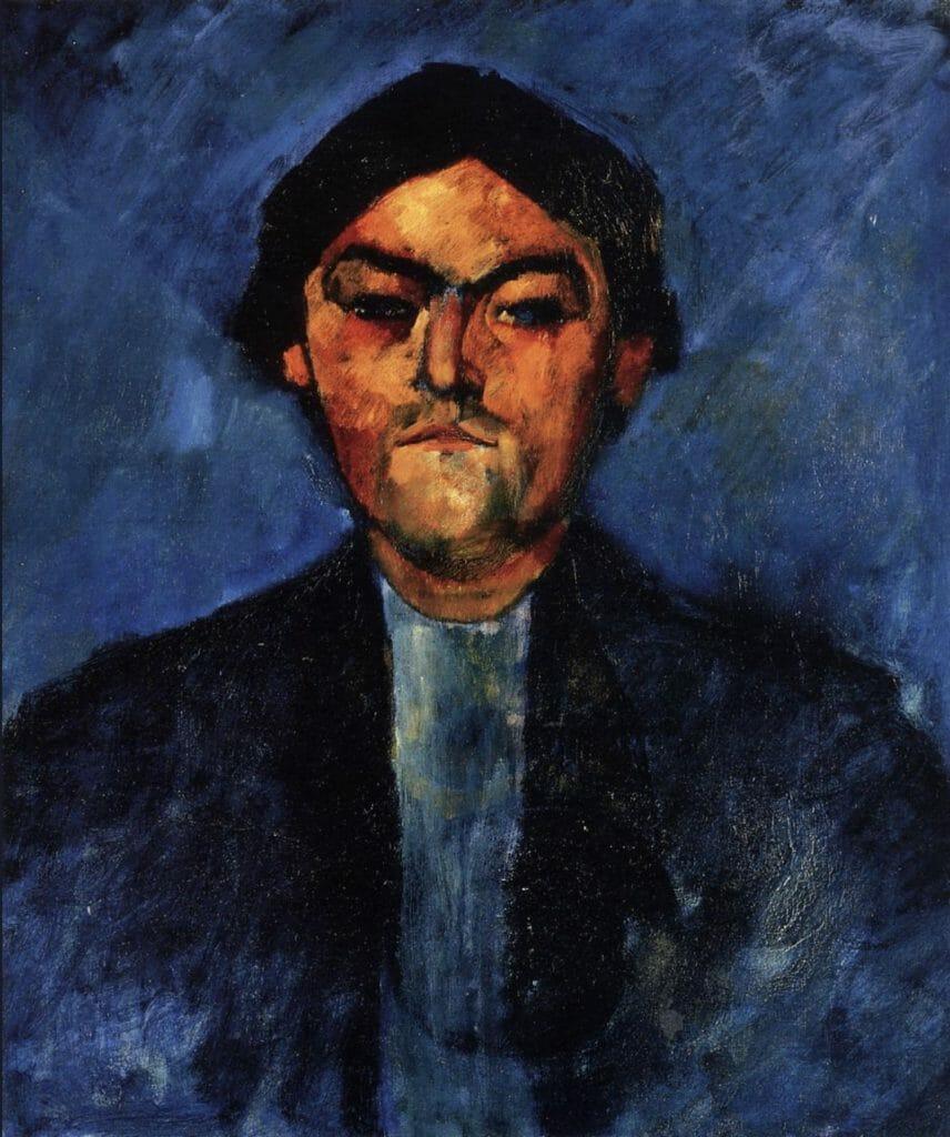 Le typographe (Pedro) par Modigliani