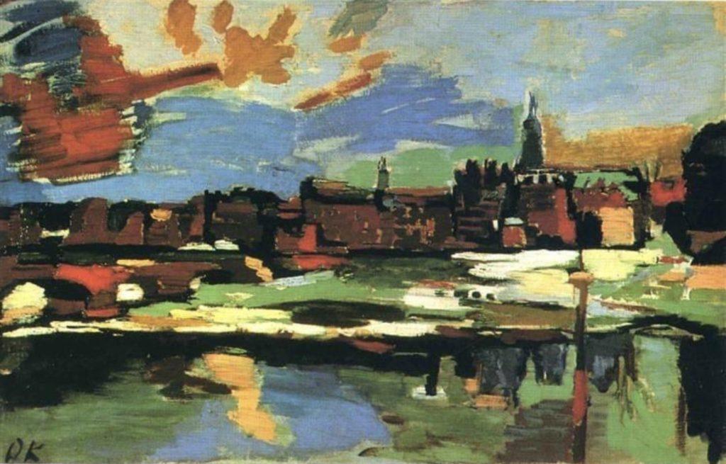 L'Elbe à Dresde d'Oskar Kokoschka