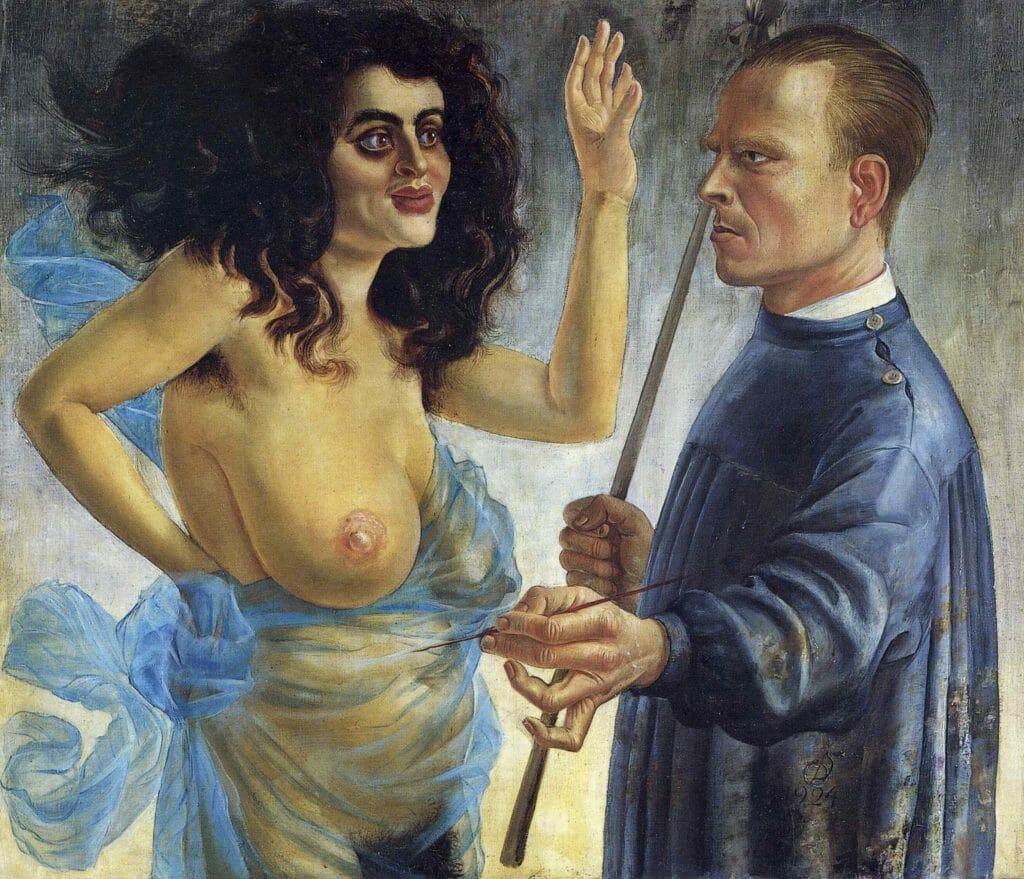 Autoportrait avec Muse d'Otto Dix