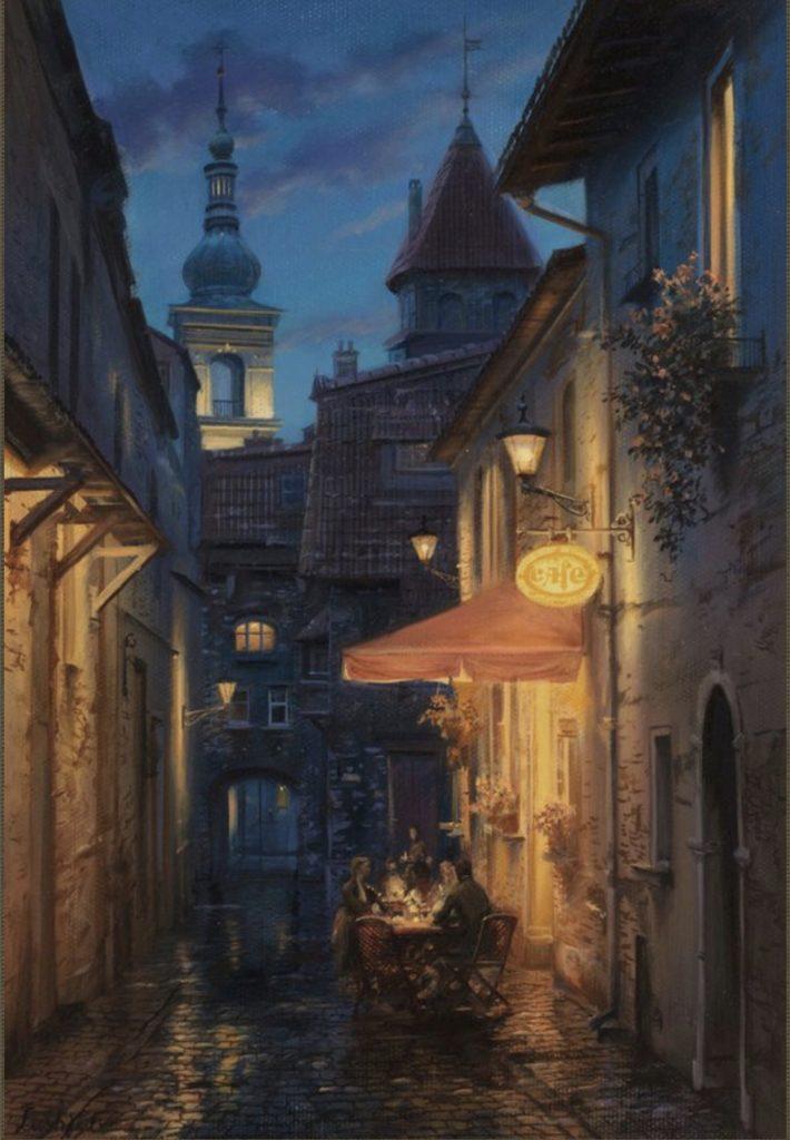 Café de Prague par Evgeny Lushpin