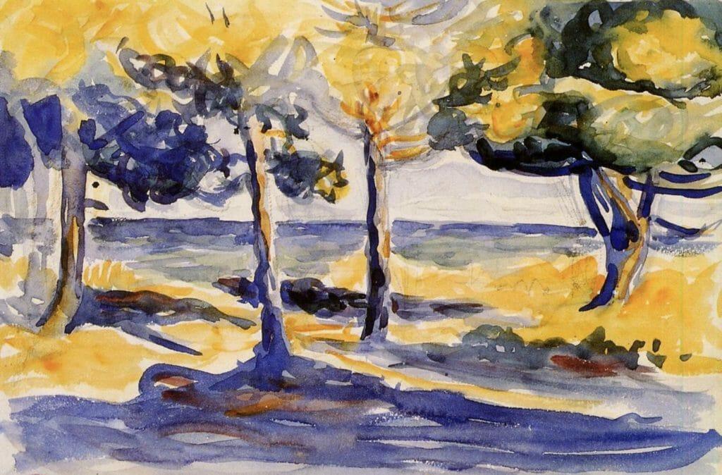 Arbres au bord de la mer par Henri-Edmond Cross