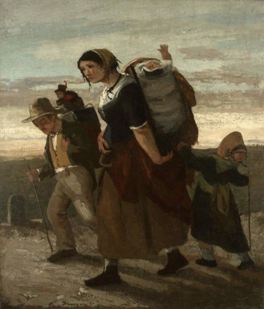 La Bohémienne et ses enfant de Gustave Courbet