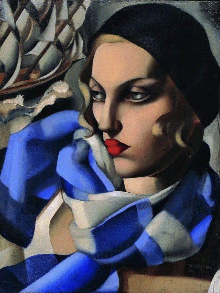 L'écharpe bleue de Tamara de Lempicka