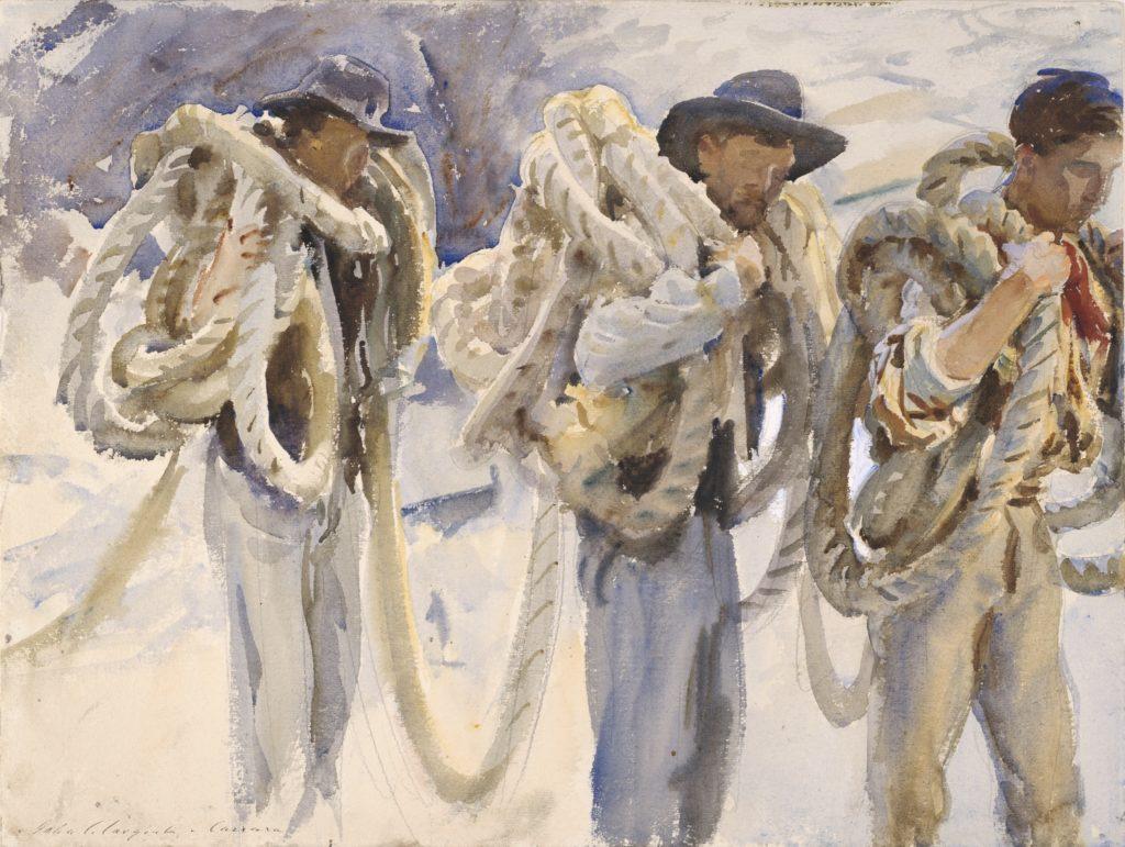 Ouvriers à Carrare de John Singer Sargent