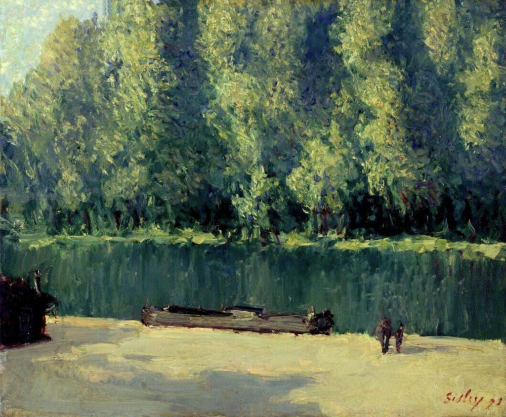 Au bord du Loing par Alfred Sisley