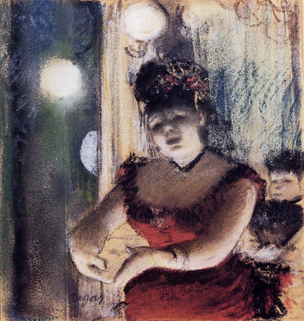 Chanteuse de café-concert par Edgar Degas