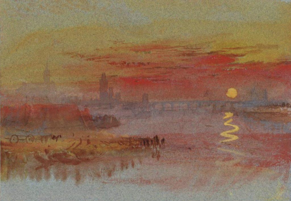 Coucher de soleil écarlate par William Turner