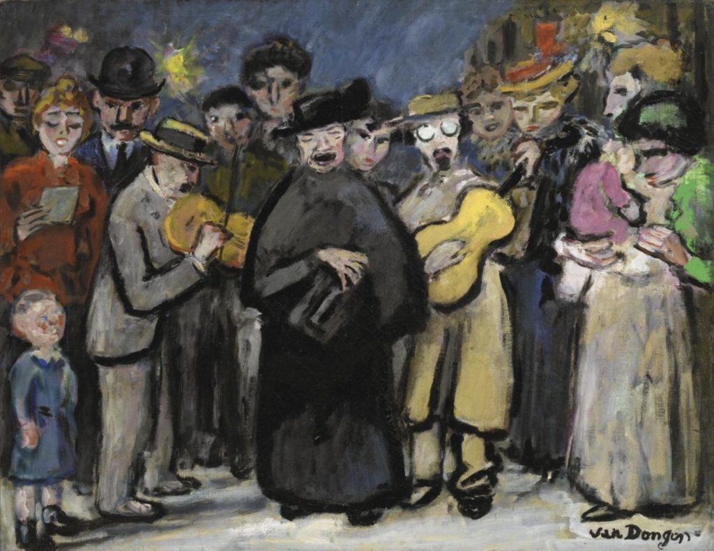 Chanteurs de rue de Kees Van Dongen