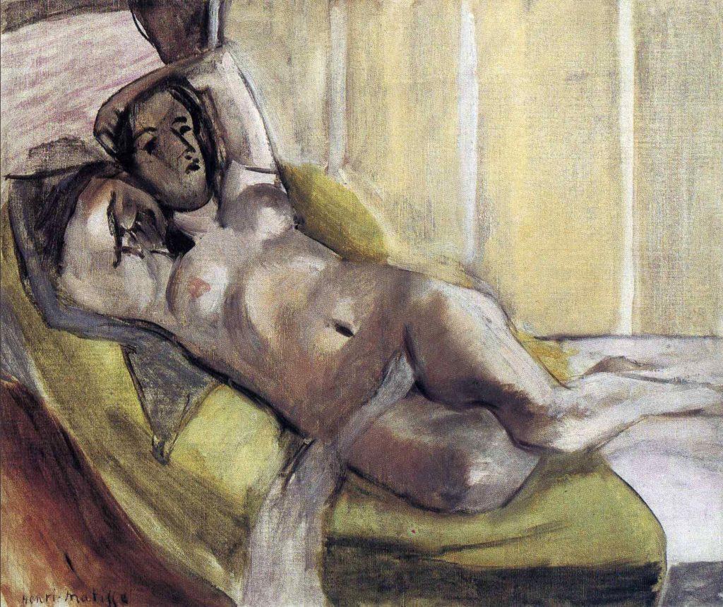 Nu allongé sur un sofa d'Henri Matisse