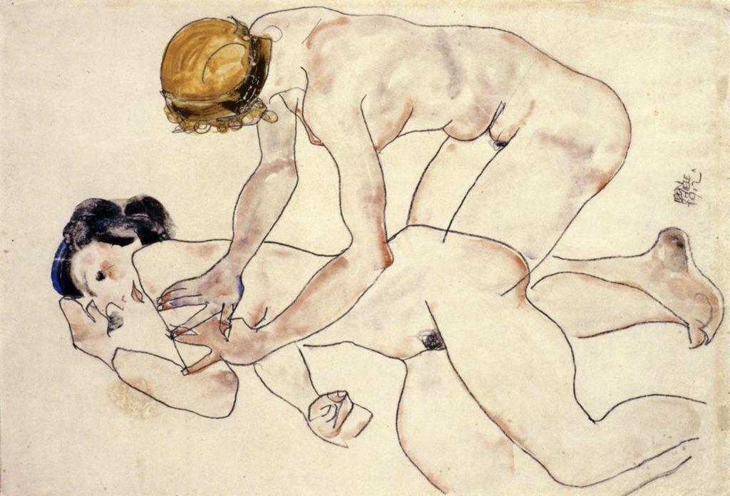 Deux nus féminins d'Egon Schiele