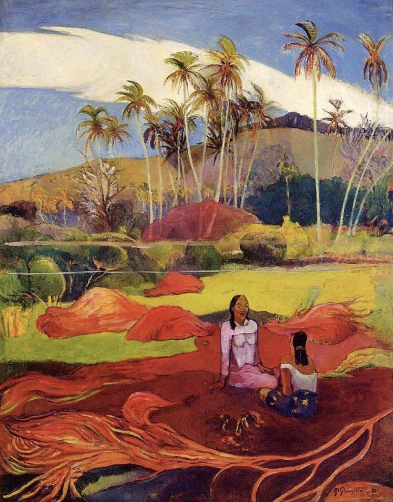 Tahitiennes sous les palmiers par Paul Gauguin